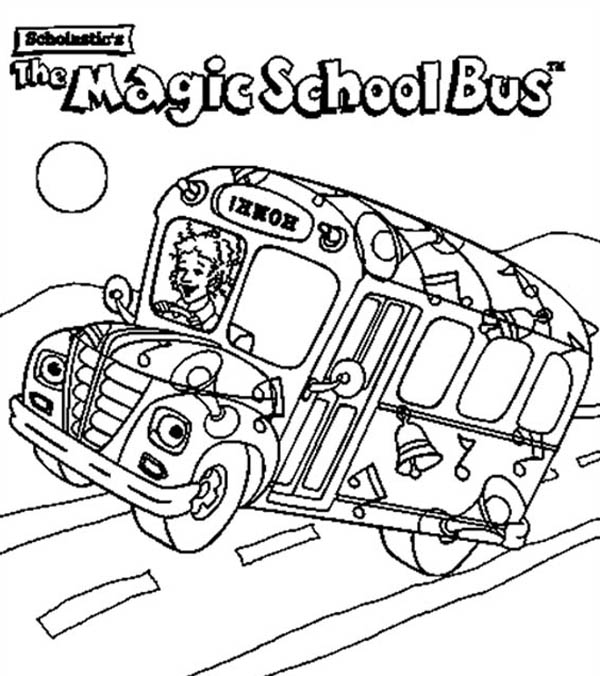 600x676 Magic School Bus Coloring Page, Magic School Bus Coloring Pages