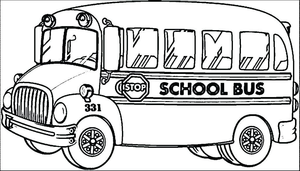 1024x585 School Bus Coloring Kids School Bus Coloring Page School Bus