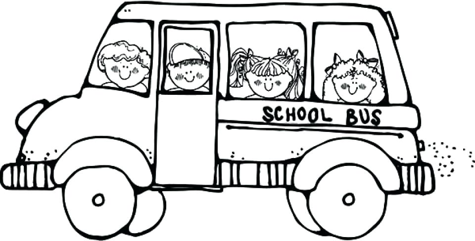 960x488 School Bus Coloring Page Printable School Bus Coloring Pages