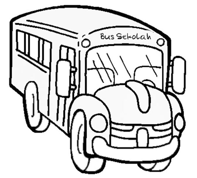 671x607 School Bus Coloring Pages