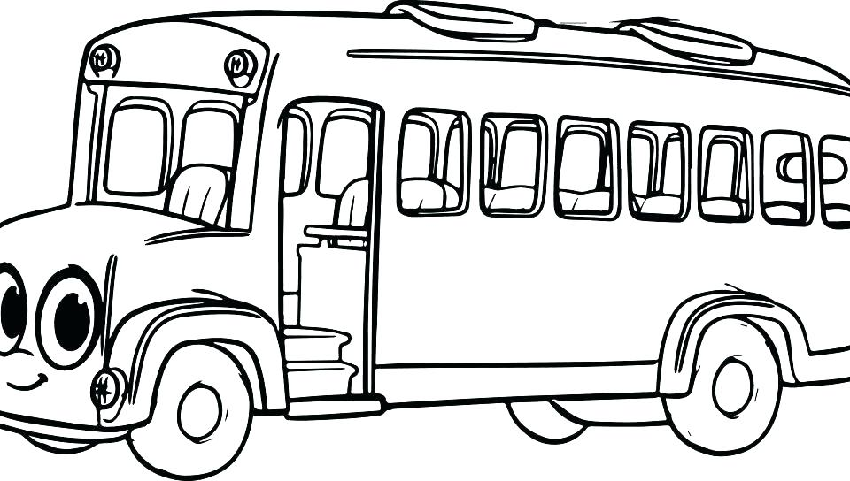 960x544 Tayo Coloring Pages Bus Coloring Page Online School Bus Coloring