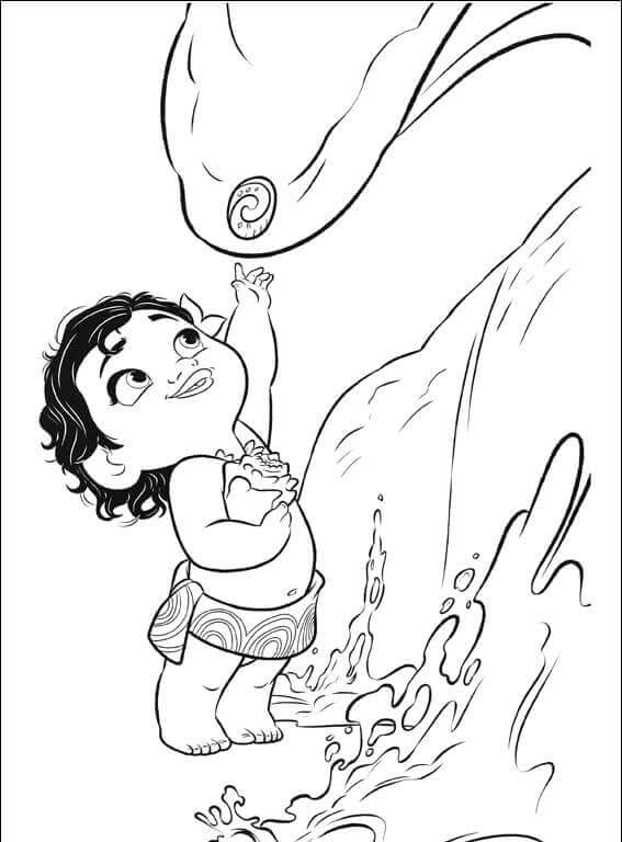 567x768 Printable Moana Coloring Pages