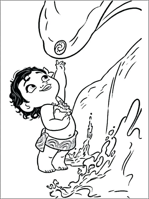 564x752 Moana Coloring Pages Te Fiti Also