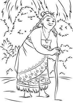 236x334 Moana Coloring Pages
