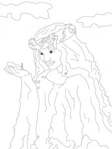 225x300 Te Fiti Coloring Page Free Movie Coloring Pages Moana