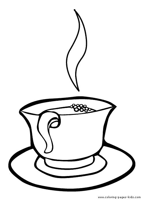 500x700 Drawn Tea Cup Colouring Page