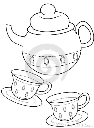 330x450 Tea Cup Coloring Page
