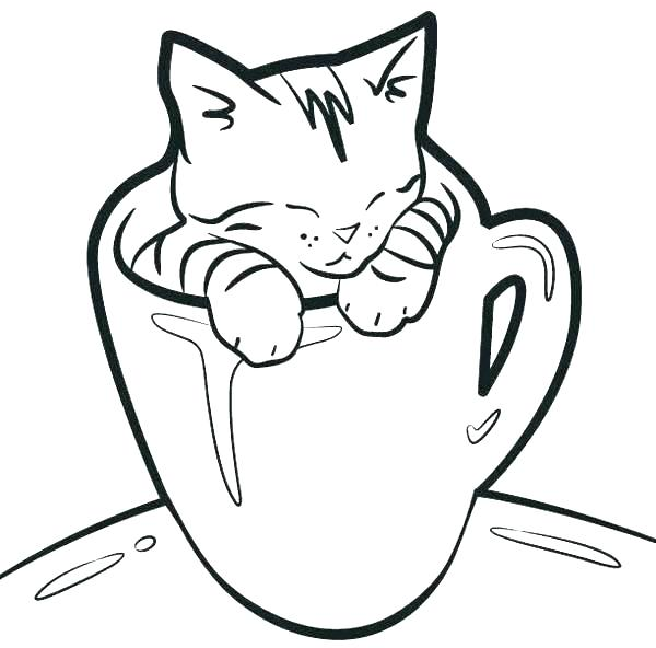 600x592 Tea Cup Coloring Page Cute Coloring Yorkie Puppies Coloring Pages