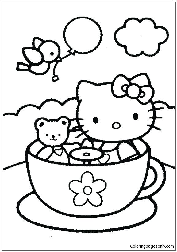577x819 Tea Cup Coloring Page Hello Kitty And Teddy Bear In Tea Cup