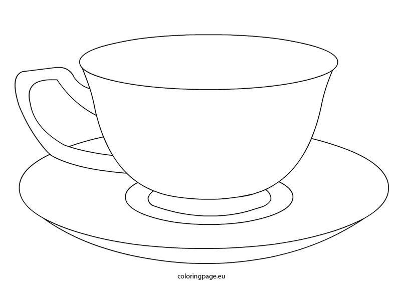 804x595 Tea Cup Coloring Pages Printable Applique Tea Cup