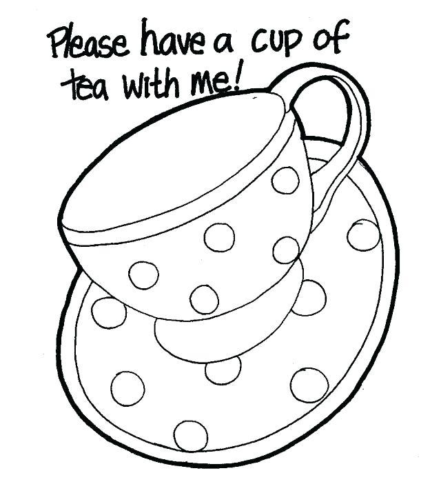 640x715 Teapot Coloring Page Teapot Coloring Page Drawn Tea Cup Colouring