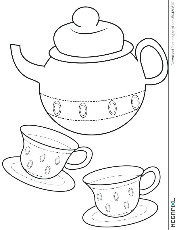 616x800 Cup Coloring Page