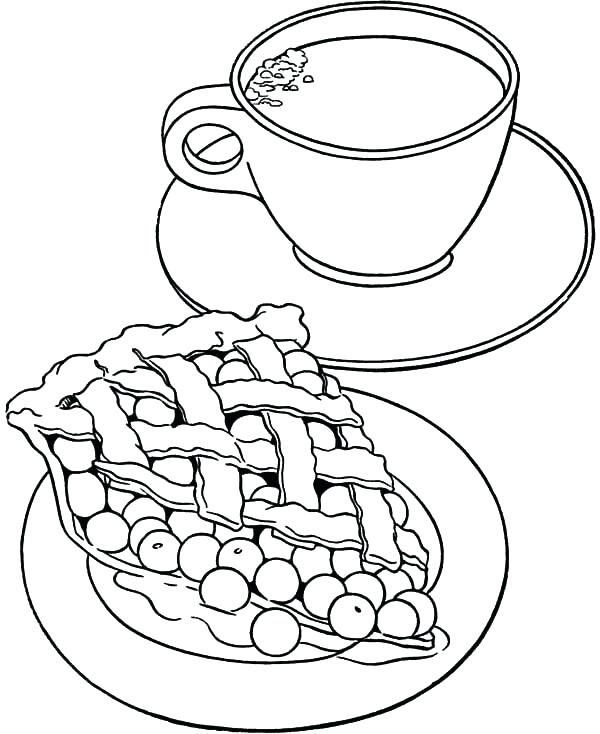 600x734 Cup Coloring Pages