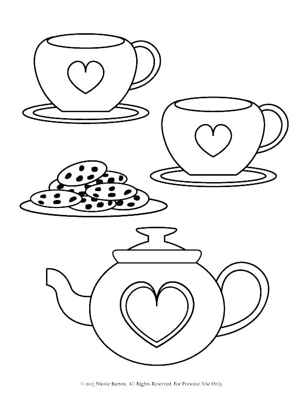 612x792 Tea Coloring Pages