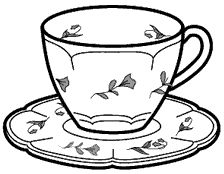224x174 Drawn Tea Cup Colouring Page