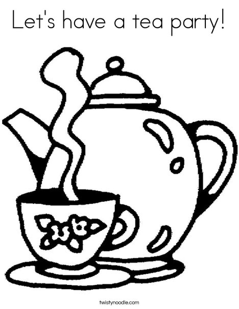 468x605 Let's Have A Tea Party Coloring Page