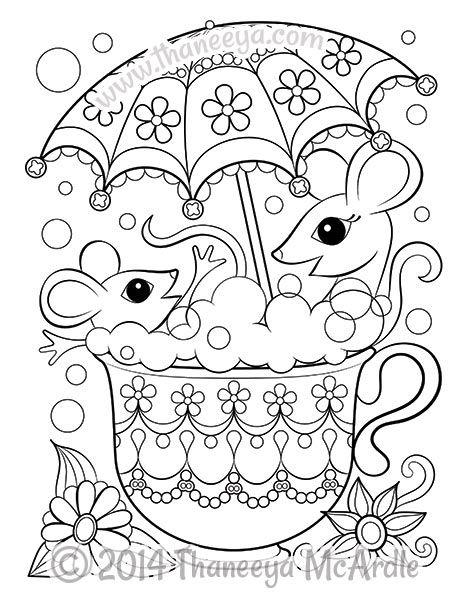 Tea Set Coloring Pages