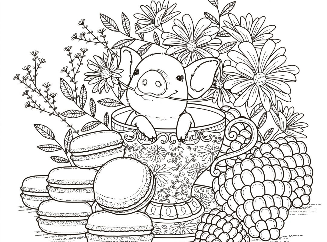 1080x800 Free Colouring Pages For Adults Popsugar Smart Living Templates