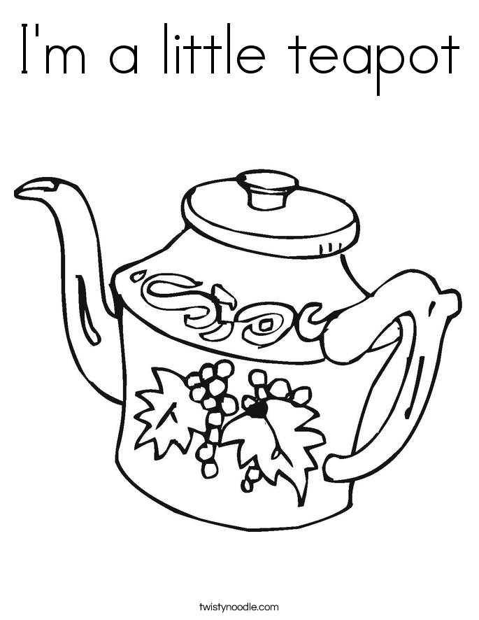 685x886 I'm A Little Teapot Coloring Page