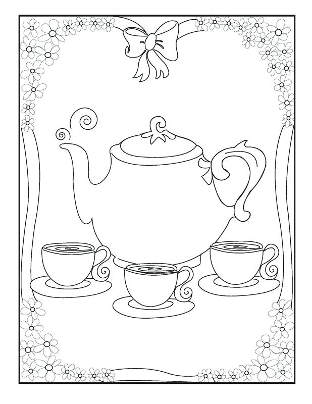618x800 Tea Party Coloring Pages Educational Coloring Pages