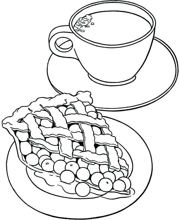 Tea Set Coloring Pages At Getdrawings Com Free For Personal Use