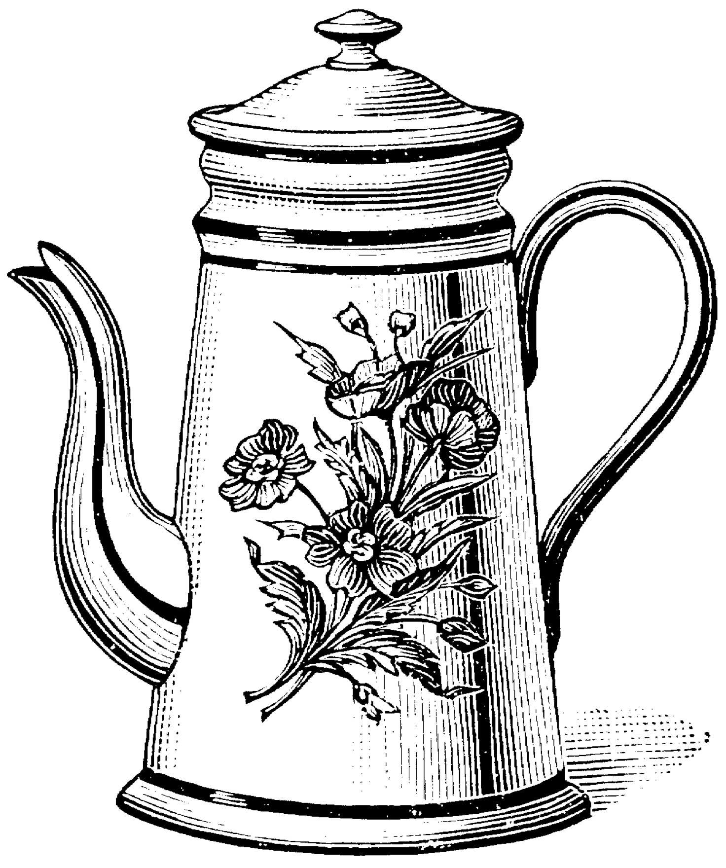 1472x1760 Teapot Coloring Pages