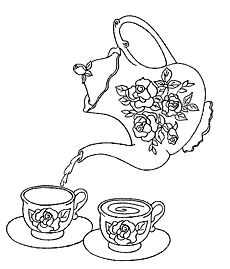 230x269 Best Colouring Coffee Tea Cakes Images