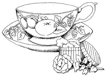 452x322 Tea Set Images To Color