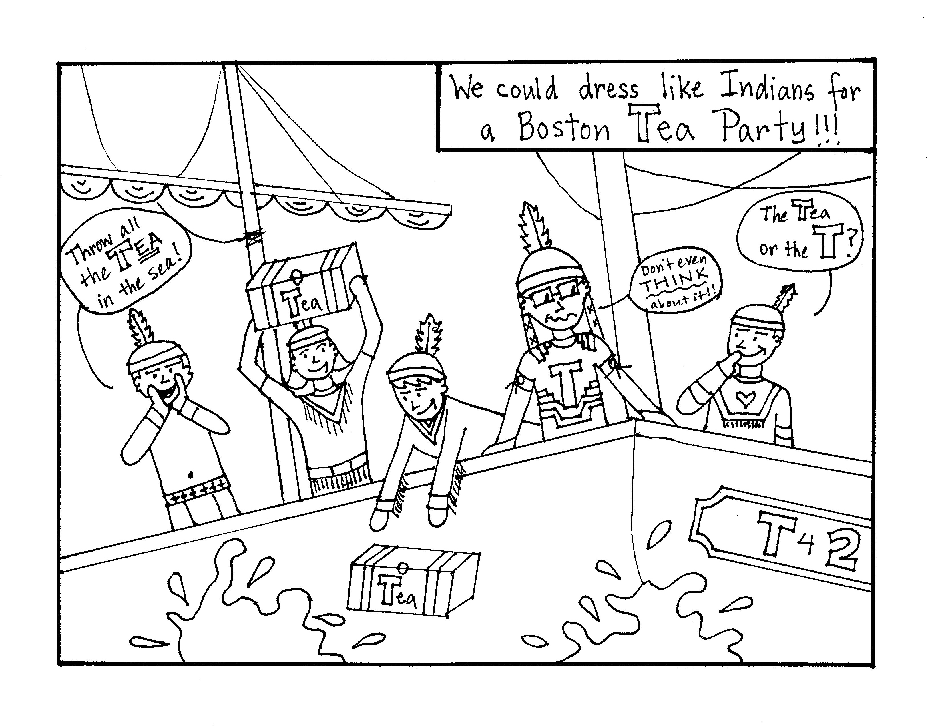 3299x2550 Best Coloring Page Boston Tea Party Free Alice In Wonderland
