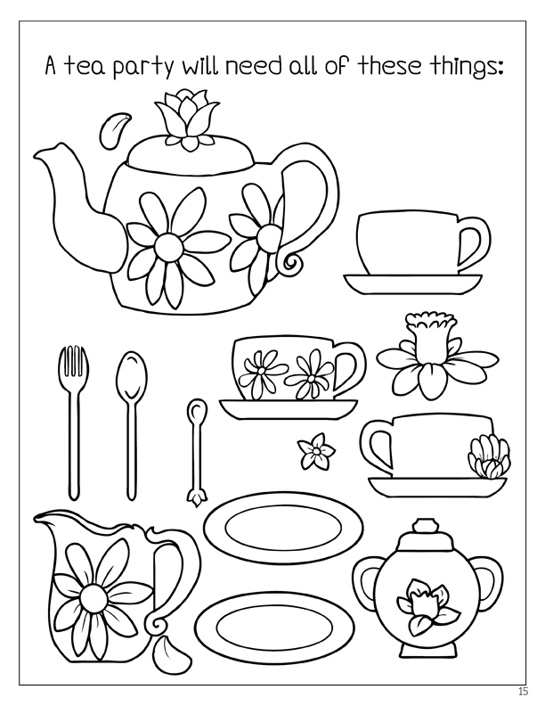 612x792 Coloring Books Enchanted Tea Party Coloring Book