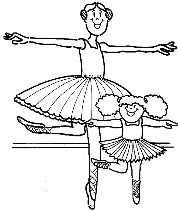 600x708 Teacher Student Coloring Pages And Practice Ballet Sky