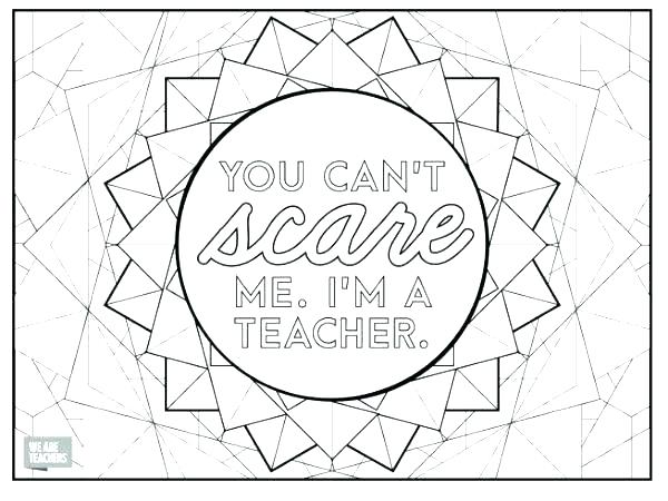 Teacher Appreciation Coloring Pages Printable At Getdrawings
