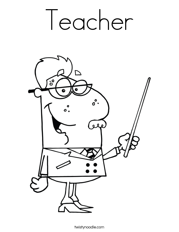 685x886 Teacher Coloring Page