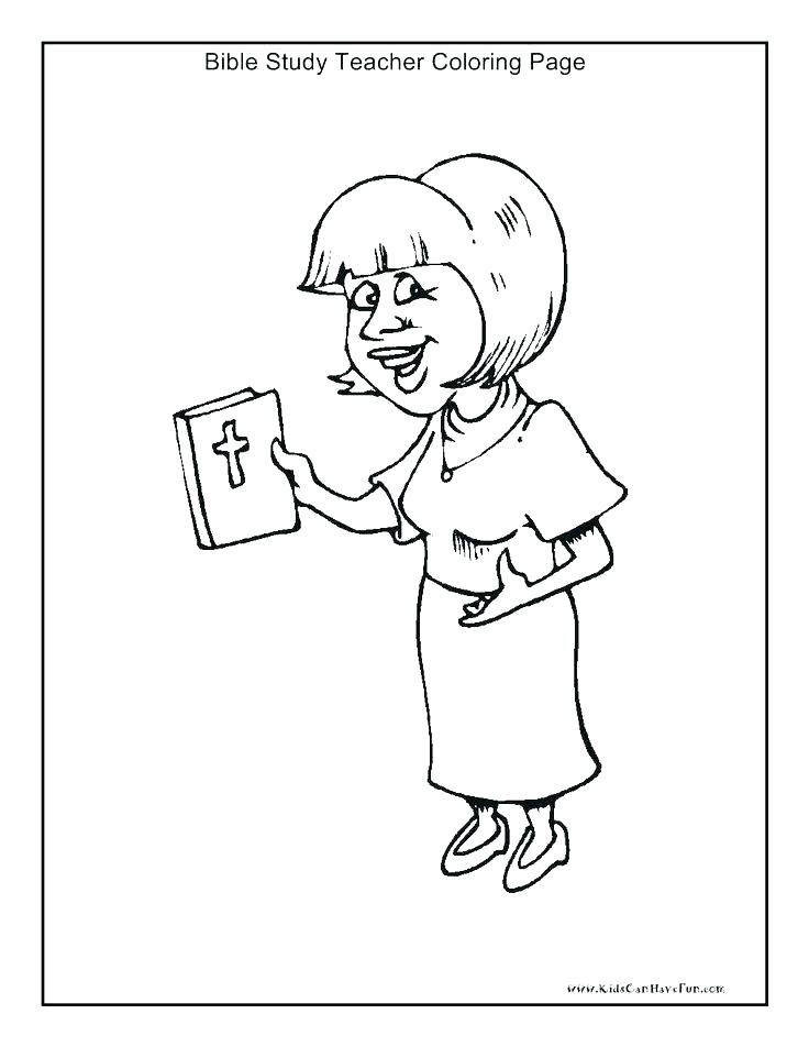 736x952 Teacher Coloring Pages Bible Study Teacher Coloring Page Christian