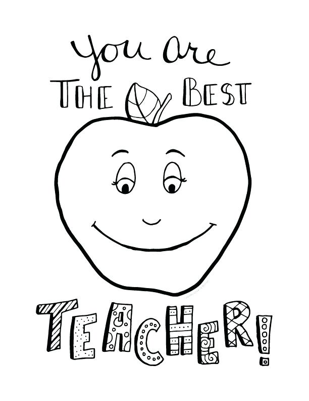 612x792 Best Teacher Coloring Pages Best Teacher Coloring Pages Free