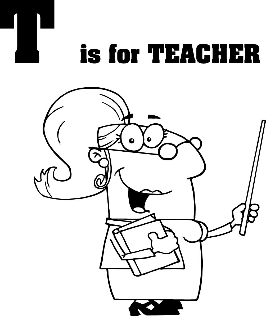 1005x1194 Cartoon Teachers Coloring Pages For Preschoolers
