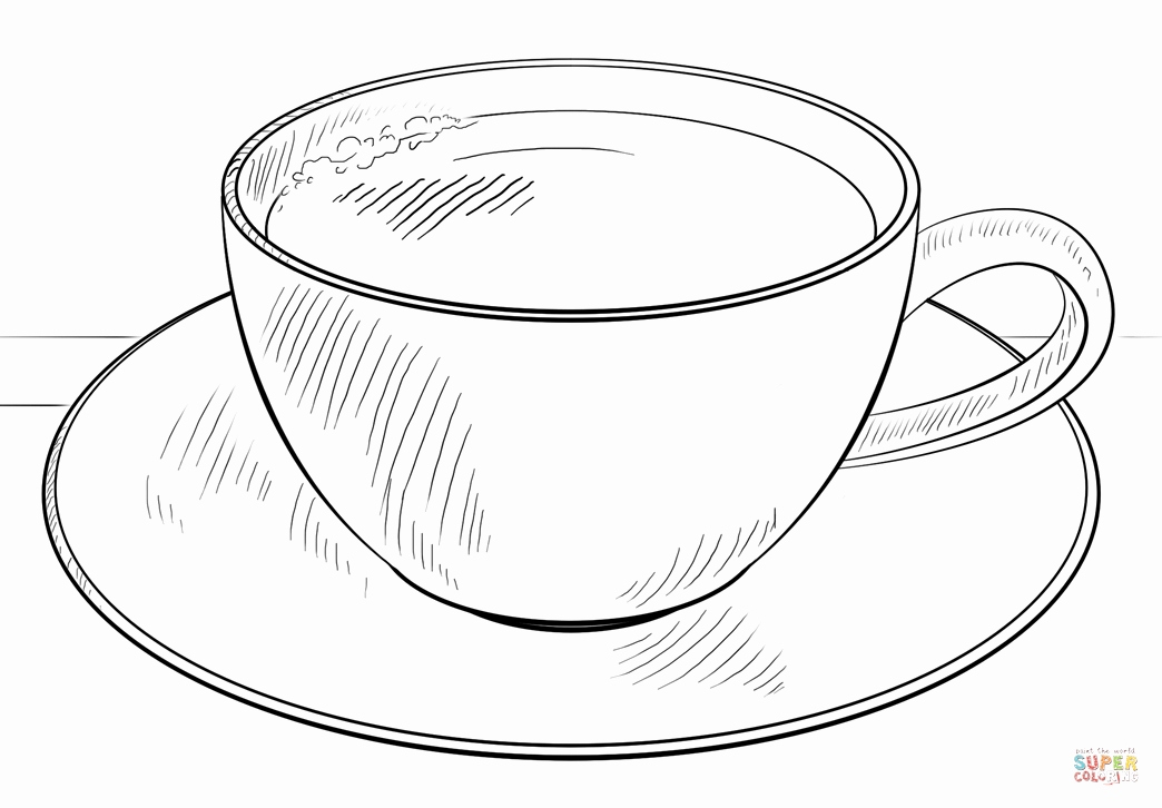 image regarding Teacup Printable titled Teacup Coloring Web pages Printable at  Cost-free