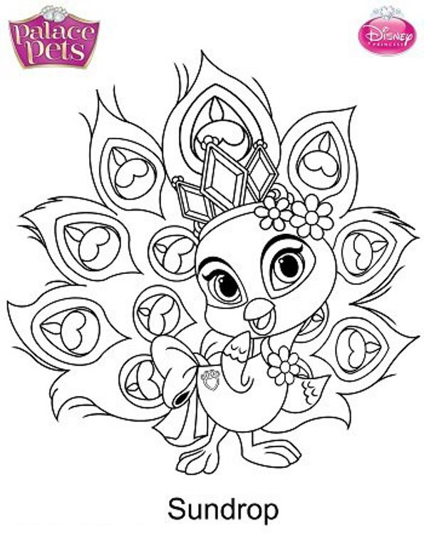 595x768 Palace Pets Coloring Pages Palace Pets Teacup Coloring Page