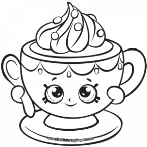 291x291 Shopkins Tiny Teacup Coloring Page Shopkins Coloring Just