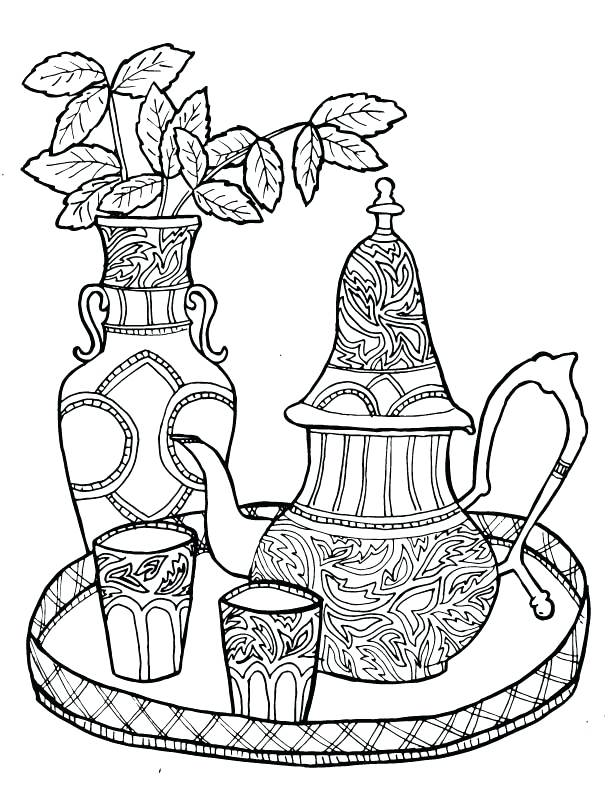 612x792 Tea Coloring Pages Tea Cup And Saucer Coloring Pages