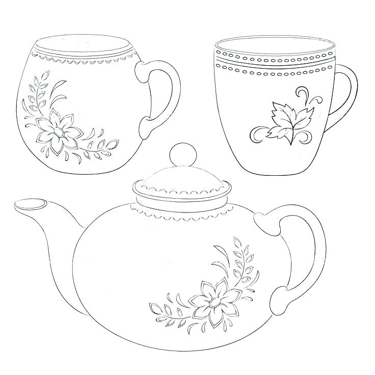 This is a picture of Teacup Template Printable intended for invitation