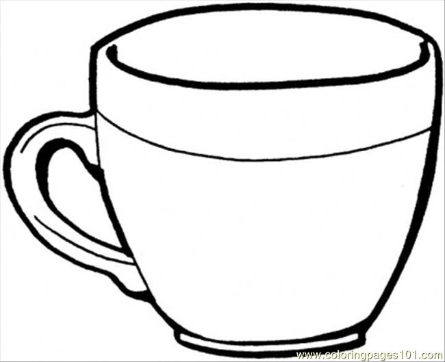 650x529 Teacup Coloring Page