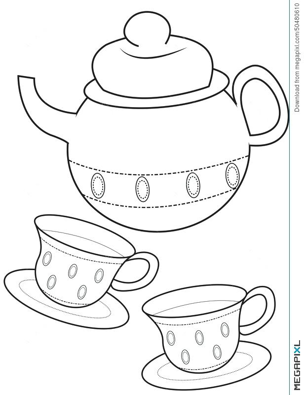 616x800 Best Of Tea Cup Coloring Page Pictures Teacup Coloring Page Free