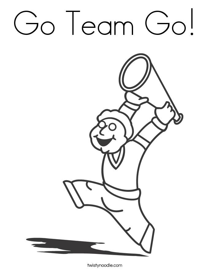 685x886 Go Team Go Coloring Page