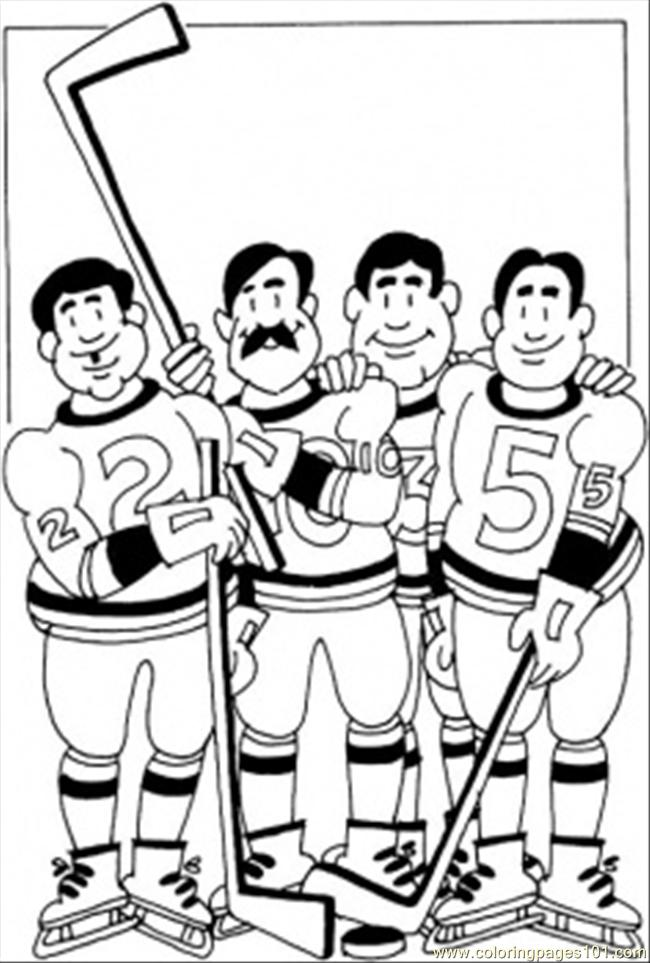 650x963 Hockey Team Coloring Page Coloring Page