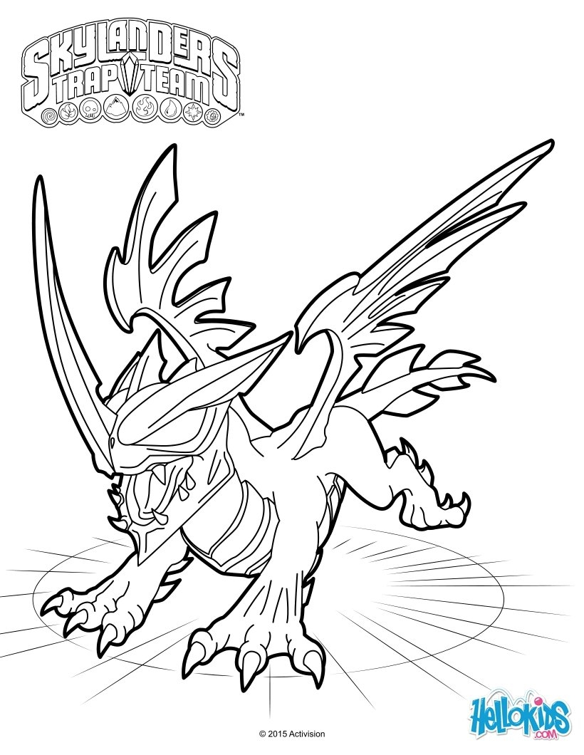 820x1060 Awesome Coloriages Skylanders Trap Team Coloriages Coloriage