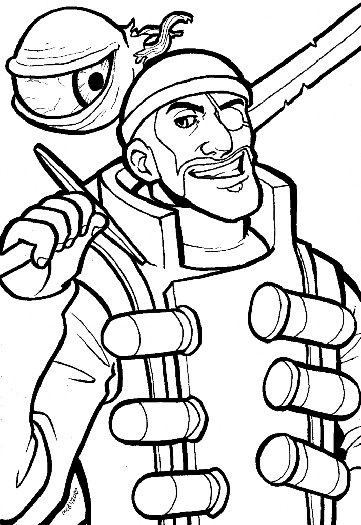 704x1024 Team Fortress Coloring Pages