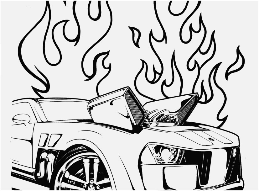 Team Hot Wheels Coloring Pages