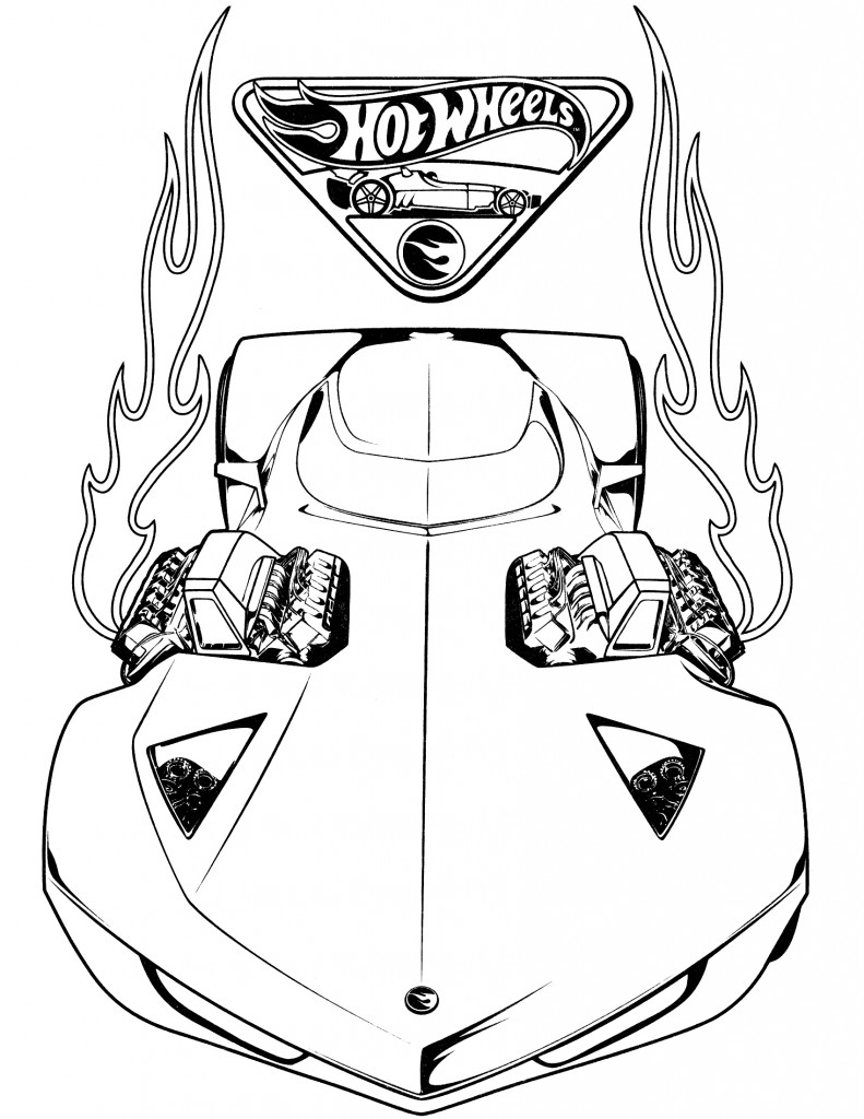 791x1024 Hot Wheels Coloring Pages For Kids Book