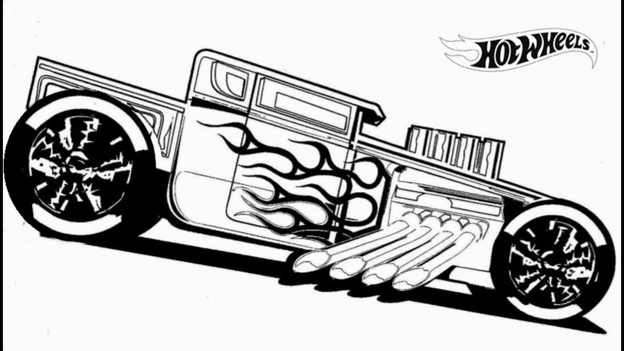 1280x720 Hot Wheels Coloring Pages For Kids Hard Extreme Adult Monster